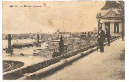 AK Stettin Hakenterrasse Und Briefstempel 2 Ers Gow Komp II Armeskorps 1917 - Poland