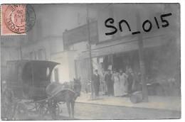 IVRY SUR SEINE - Devantures de magasin - Brique DUCOUROY, EPICERIE et MEUBLE ROTA - 72/74 Route Nationale - CARTE PHOTO