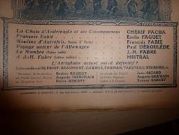 1913 J.-H. FABRE; Aéroplanes : Lettres De Blériot, Beaumont, Garros,Farman,Tabuteau, Védrine; Athènes; Thésée ;Durenque - Newspapers