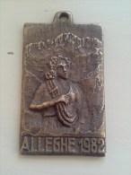 VINTAGE ; PLAQUE DE BRONZE ALLEGHE ROCCA PIETORE - Bronzen