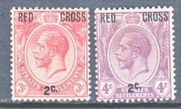 STRAITS  SETTLEMENTS  B 1-2     *  RED  CROSS - Straits Settlements