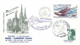 Air France   Premier Vol Paris - Clermont Ferrand 20 Mai 1983 - Concorde