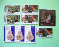 Mexico 2010 Stamps - Birds Frog Parrot Tucan - Deads Day - Silver Pear - México