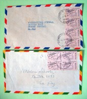 Bolivia 1980 Two Covers To La Paz - Stamp On Stamp - Bolivie