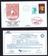 Air France   Vol Spécial  Rotary Club Issoire   Paris - Vichy  9 Sept 1983 - Concorde