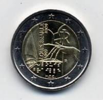 2009 ITALIA 2 EURO, 200° ANNIVERSARIO LOUIS BRAILLE 1809-2009 (FDC - UNC) - Italia