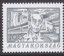 HUNGARY, 1998 JENDRASSIK 1 MNH - Hungary