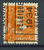 VEND BEAU TIMBRE DE BELGIQUE N° 336 , PREO 1937 , SURCHARGE A CHEVAL ( 4 ) !!!! - Roller Precancels 1930-..