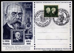 A2598) Bund Sonderkarte 29.08.1954 Mit Mi.197 Und Sonderstempel - BRD
