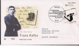 2008  Deutschland Yv  2507 Mi  2680 FDC  125. Geburtstag Von Franz Kafka - [7] Repubblica Federale