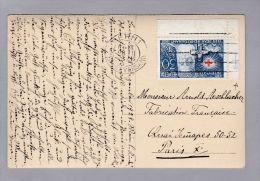 Schweiz Pro Juventute 1928-12-28 AK Mit 30 Rp. H.Dunant Eckrand Mit Anlagekreuz - Lettres & Documents