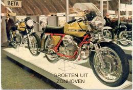 ZONHOVEN-GROETEN UIT ZONHOVEN-BROMFIETS-MOTO GUZZI-SPORT-VELOCITA-VERZ ONDEN KAART-1979-ZIE 2 SCANS! ! ! - Zonhoven