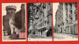 "1352-  VICHY - 3 Cartes - Hôtel Cariton "" Hôpital Temporaire"" -Hôtel De L'Amirauté - La Tour ""Horloge"" (recto-verso) - Vichy"