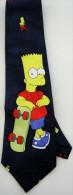 The Simpsons Bart Skateboard Game Sport Silk Cartoon Novelty Fancy NECK TIE - Other
