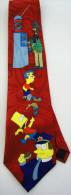 The Simpsons Bart Chief Wiggum Springfield Police Silk Cartoon Novelty Fancy NECK TIE - Other