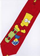 The Simpsons Bart Skateboard Sport Game Silk Cartoon Novelty Fancy NECK TIE - Other