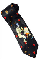 The Simpsons Homer Angry Marge Bart Lisa Maggie Silk Cartoon Novelty Fancy NECK TIE - Other