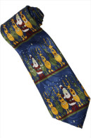 Christmas Santa Claus Xmas #15 Reindeer BLUE Silk Cartoon Novelty Fancy NECK TIE - Other Collections