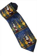 Christmas Santa Claus Xmas #15 Reindeer BLUE Silk Cartoon Novelty Fancy NECK TIE - Other