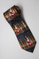 Christmas Santa Claus Xmas #15 Reindeer DBLUE Silk Cartoon Novelty Fancy NECK TIE - Andere