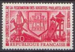 France N° 1642 ** Congrès De La Fédération Des Sociètés Philatéliques à Lens - Nuovi