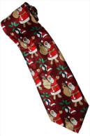 Christmas Santa Claus Xmas #22 Gift RED Silk Cartoon Novelty Fancy NECK TIE - Andere