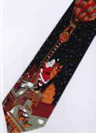 Christmas Santa Claus Xmas #24 Hot Balloon BLUE Silk Cartoon Novelty Fancy NECK TIE - Other