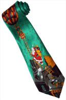 Christmas Santa Claus Xmas #24 Hot Balloon GREEN Silk Cartoon Novelty Fancy NECK TIE - Other Collections