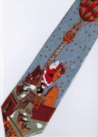 Christmas Santa Claus Xmas #24 Hot Balloon SILVER Silk Cartoon Novelty Fancy NECK TIE - Andere
