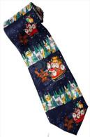 Christmas Santa Claus Xmas #26 Rider Sleigh Reindeer Gift Silk Cartoon Novelty Fancy NECK TIE - Other