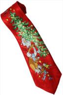 Christmas Santa Claus Xmas #27 Trees Gift Silk Cartoon Novelty Fancy NECK TIE - Andere