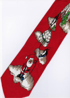 Christmas Santa Claus Xmas #28 Play Golf Eskimo Snow House RED Trees Gift Silk Cartoon Novelty Fancy NECK TIE - Other Collections