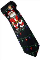 Christmas Santa Claus Xmas #31 Light Silk Cartoon Novelty Fancy NECK TIE - Andere