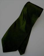Dark Olive Green Solid Glitter Thai Silk Men Formal Fashion NECK TIE - Andere