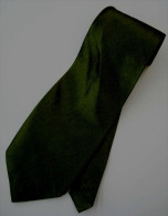 Dark Olive Green Solid Glitter Thai Silk Men Formal Fashion NECK TIE - Other Collections