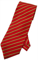 Red Yellow White Green Striped Men Formal Fashion SILK NECK TIE - Other