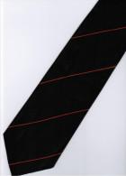 Black Orange Striped Men Formal Fashion SILK NECK TIE - Other