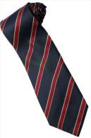 Black Red Yellow Striped Men Formal Fashion SILK NECK TIE - Other