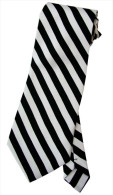 Black White Zebra Striped Men Formal Fashion SILK NECK TIE - Other