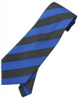 Blue Black Striped Men Formal Fashion SILK NECK TIE - Other