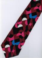 Maroon Pink Black Blue White Striped Men Formal Fashion SILK NECK TIE - Other