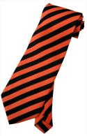 Red Black Striped Men Formal Fashion SILK NECK TIE - Other