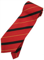 Red Yellow Black Striped Men Formal Fashion SILK NECK TIE - Other Collections