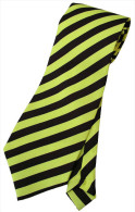 Yellow Black #2 Striped Men Formal Fashion SILK NECK TIE - Other Collections
