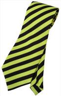 Yellow Black #2 Striped Men Formal Fashion SILK NECK TIE - Other