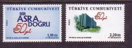 2014 TURKEY 50TH ANNIVERSARY OF TRT MNH ** - Nuevos