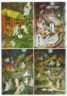 Trento, Castello Del Buonconsiglio - Affreschi Della Torre Aquila (ignoto 1400) - Series 13 Pieces. - Peintures & Tableaux