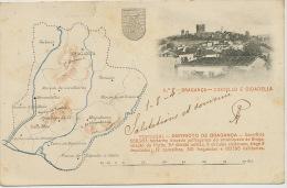 Bragança  2 Castello E Citadella Mapa 1904 Map Carte Geographique - Bragança