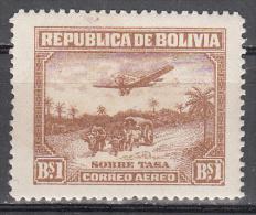 Bolivia    Scott No.  C32   Unused Hinged    Year  1930 - Bolivia