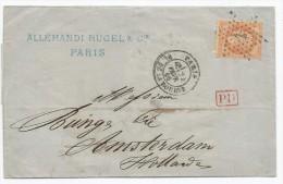 """- Lettre - SEINE -PARIS - Etoile N°1 S/TP Empire Lauré N°31 + Càd T.17 + """"PD"""" Rouge - 1869 - Bonne Destination - 1863-1870 Napoléon III Con Laureles"""